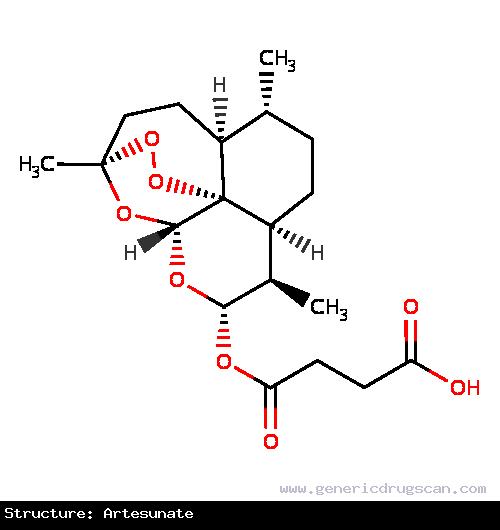 Generic Drug Artesunate prescribed For the treatment of severe malaria.