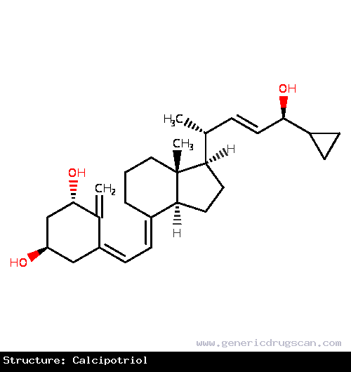 Generic Drug Calcipotriol prescribed For the treatment of moderate plaque psoriasis in adults.