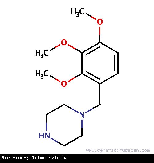 Generic Drug Trimetazidine prescribed Trimetazidine is indicated for use in angina pectoris.