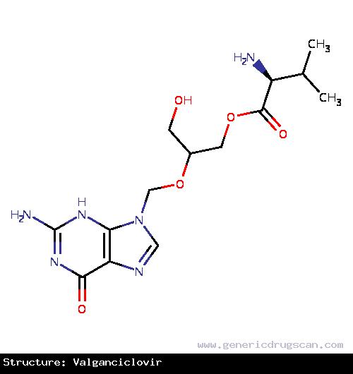 Generic Drug Valganciclovir prescribed Valganciclovir is an antiviral medication used for the treatment of cytomegalovirus infections.